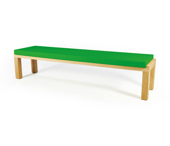 Camping Bench 220 with cushion by Quinze & Milan | Garden benches