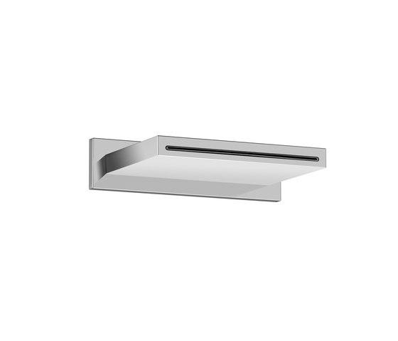Wall mounted cascade spout | Chrome by Armani Roca | Shower controls