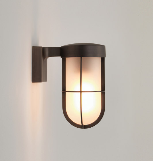 Cabin Wall Bronze Plated Frosted by Astro Lighting | Outdoor wall lights