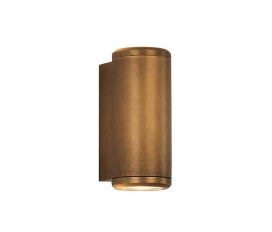 Jura Twin Antique Brass di Astro Lighting   Lampade outdoor parete