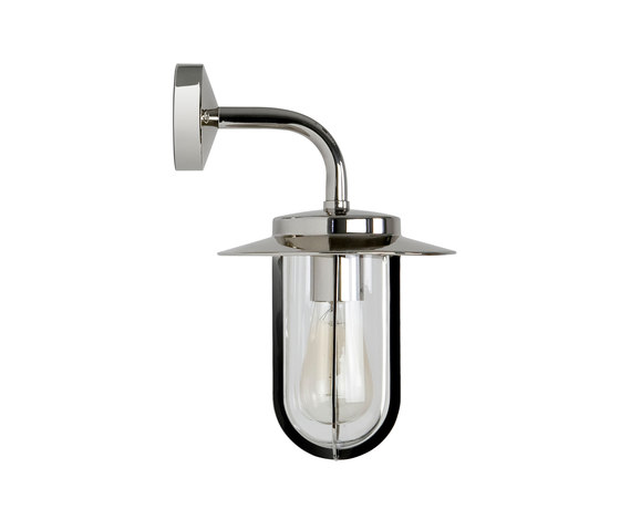Montparnasse Polished Nickel Outdoor Wall Lights From