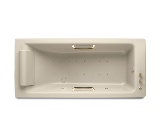 BATHS | Built-in bathtub 1800 x 800 mm with Soft-Air massage | Greige by Armani Roca | Bathtubs