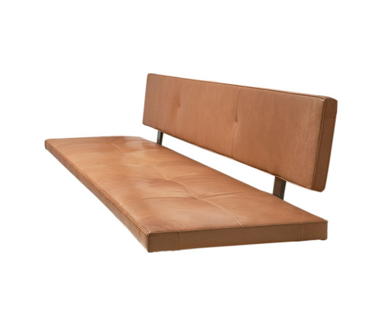 Lax | Upholstered Bench Wall-Mounted de more | Bancos