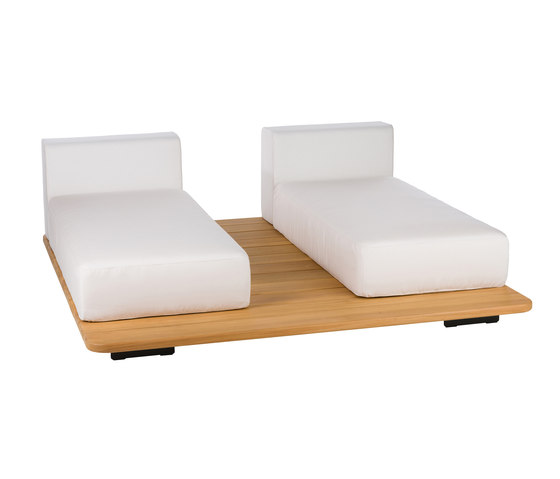 Pal | 2 Parallel Double Seat + 2 Single Back by Point | Sofas
