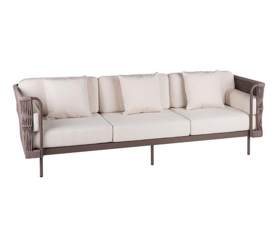 Weave Sofá 3 de Point | Sofás de jardín