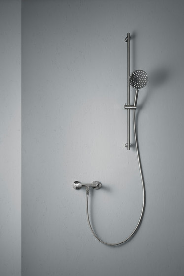 Ono   Wall mounted external shower set by Quadro   Shower controls