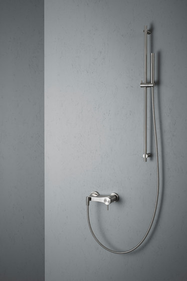 Ottavo | Stainless steel Wall mounted external mixer set by Quadro | Shower controls