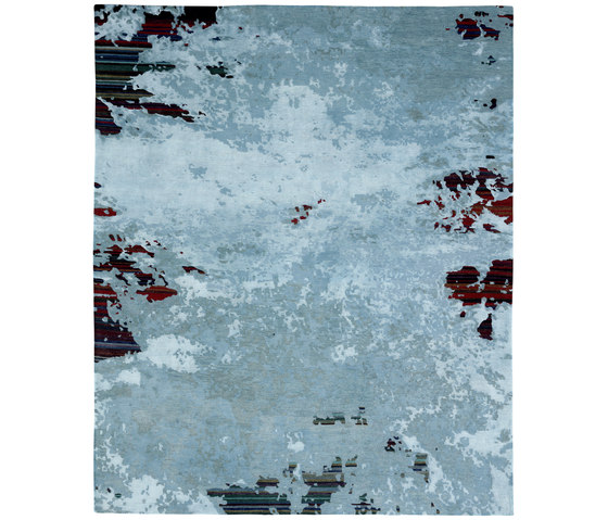 Texture - Shallow stripes ghost by REUBER HENNING | Rugs
