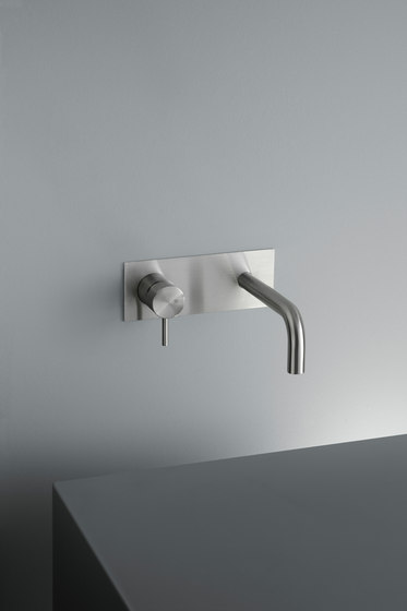 Ottavo | Wall mounted mixer with spout by Quadro | Wash basin taps