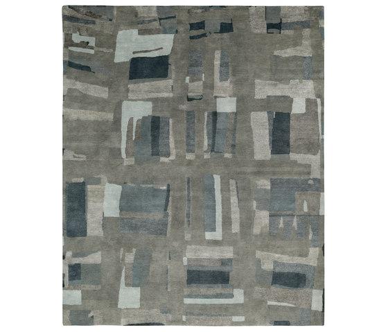 Rag Time - Honky Tonk II grey blue by REUBER HENNING | Rugs