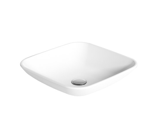 Linea lavabi - Square upon top wash basin de Olympia Ceramica | Lavabos