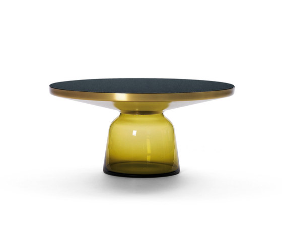 Bell Coffee Table brass-glass-yellow de ClassiCon | Mesas de centro