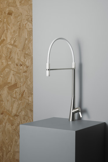 Volcano | Stainless steel Kitchen sink mixer by Quadrodesign | Kitchen taps