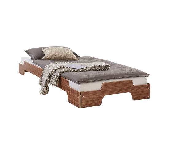 Stacking bed classic walnut by Müller small living | Beds