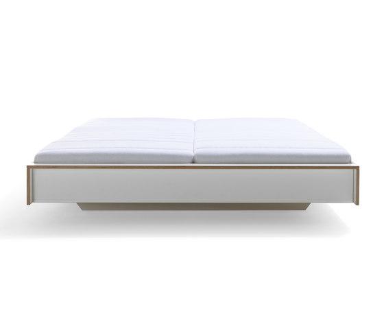 Flai bed CPL white by Müller Möbelwerkstätten | Beds