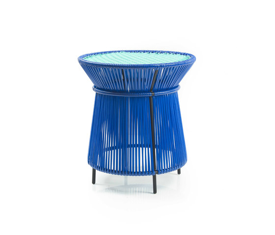 Caribe | high table, blue/mint/black de Ames | Tables d'appoint