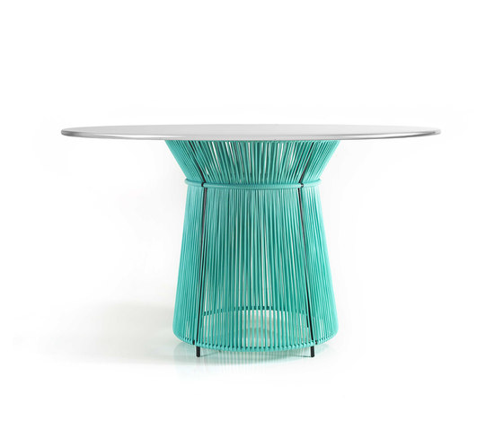 Caribe | dining table, mint/grey white de Ames | Tables de restaurant