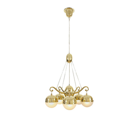 WW chandelier 5-arms M 2898 de Woka | Iluminación general