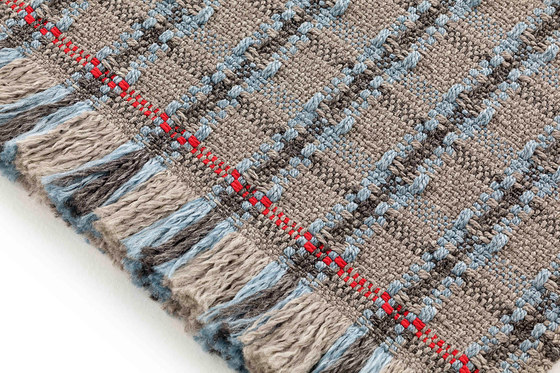 Garden Layers Rug Checks blue by GAN | Rugs