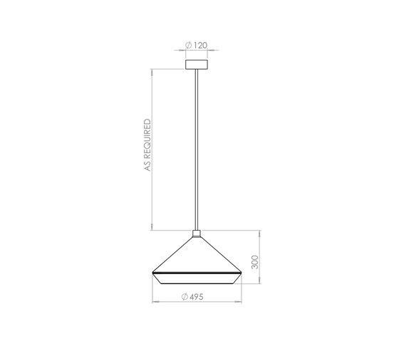 Shear XL Pendant Lamp by Bert Frank   Suspended lights