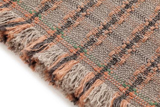 Garden Layers Rug Checks terracotta by GAN | Rugs / Designer rugs
