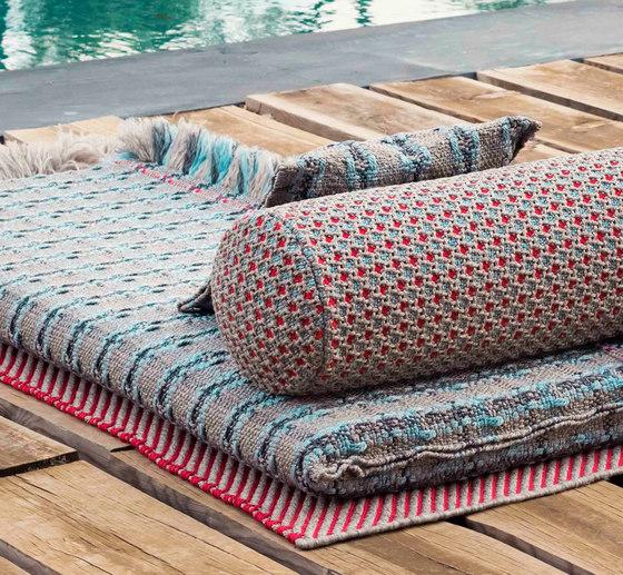 Garden Layers Rug Checks terracotta by GAN   Rugs / Designer rugs