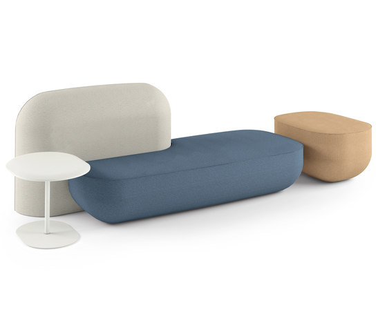 okome 002 + small table b + pouf de Alias | Sièges modulaires