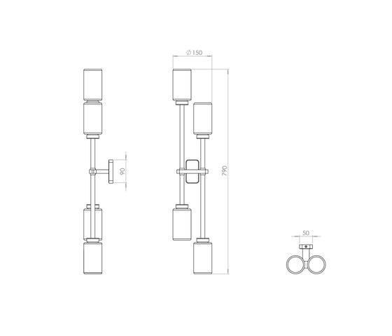Farol Double Wall Light by Bert Frank | Wall lights