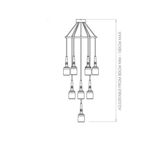 Flagon Chandelier de Bert Frank | Iluminación general
