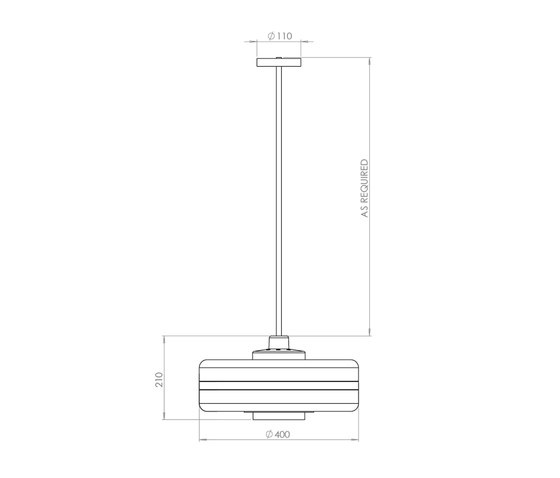 Masina Pendant Lamp di Bert Frank | Lampade sospensione