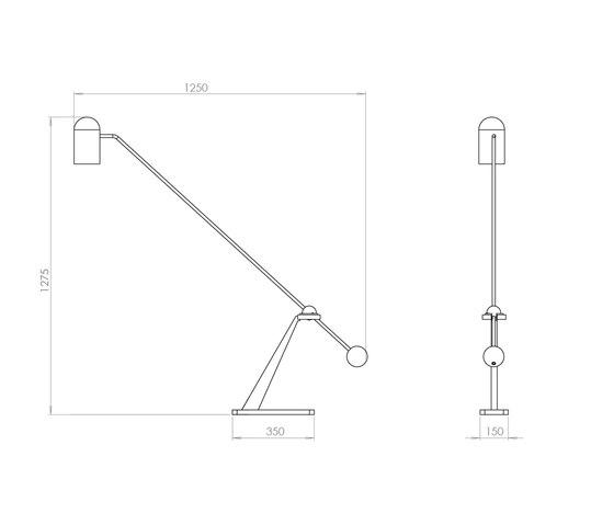Stasis Floor Light di Bert Frank | Lampade piantana