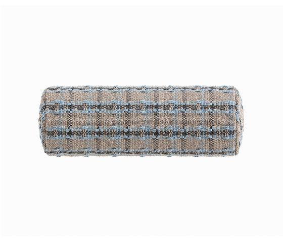 Garden Layers Small Roll Checks blue von GAN | Kissen