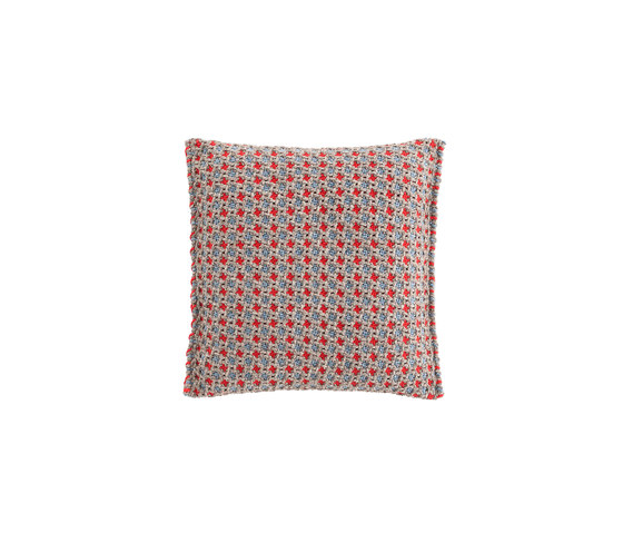 Garden Layers Small Cushion Gofre blue by GAN | Cushions