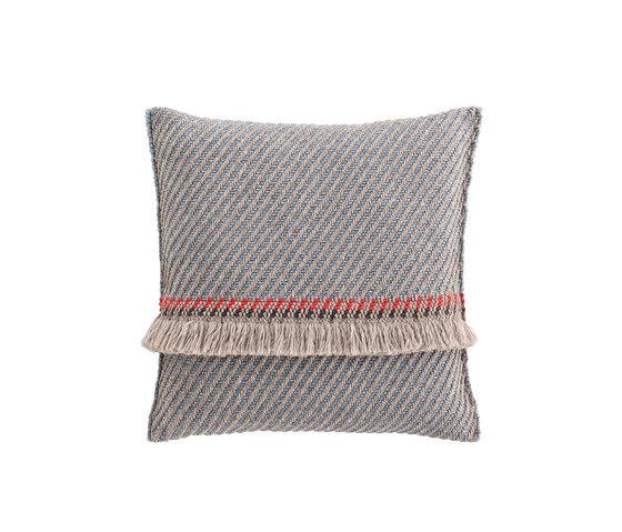Garden Layers Big Cushion Diagonal almond-blue von GAN   Kissen