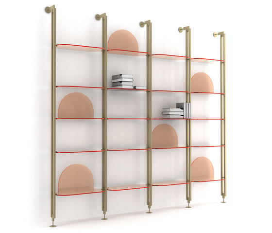 Alba Shelve System by ARFLEX | Office shelving systems