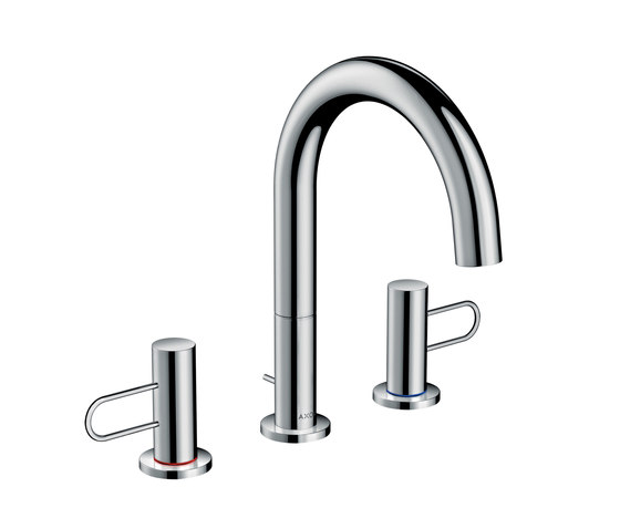 AXOR Uno 3-hole basin mixer 200 loop handle with pop-up waste set by AXOR   Wash basin taps