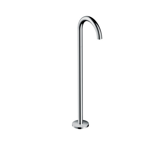 AXOR Uno Bath spout floor-standing curved by AXOR | Bath taps