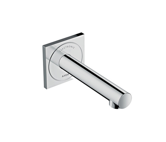 AXOR Uno Electronic basin mixer for concealed installation wall-mounted 160 by AXOR | Wash basin taps