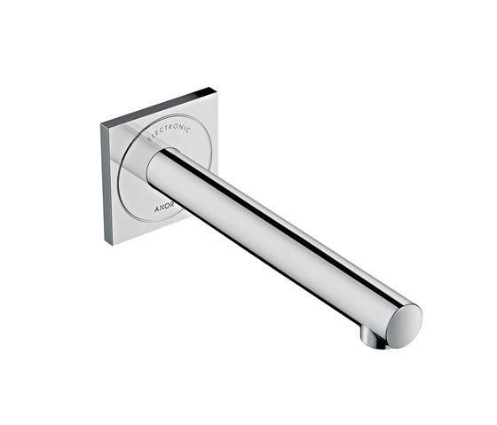 AXOR Uno Electronic basin mixer for concealed installation wall-mounted 220 de AXOR | Grifería para lavabos