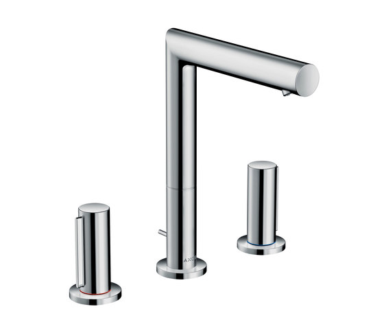 AXOR Uno 3-hole basin mixer 200 zero handle with pop-up waste set by AXOR   Wash basin taps
