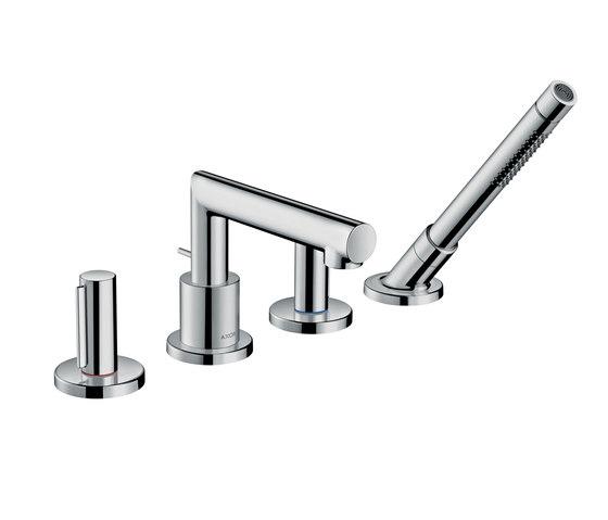 AXOR Uno 4-hole rim mounted bath mixer zero handle by AXOR | Bath taps