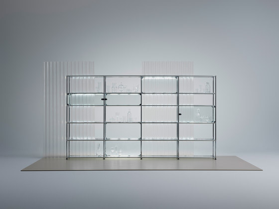 usm haller e lichtregale lichtb den von usm architonic. Black Bedroom Furniture Sets. Home Design Ideas