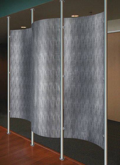 Perforated Metal Room Divider in Classic Collection Clear by Moz Designs   Sheets