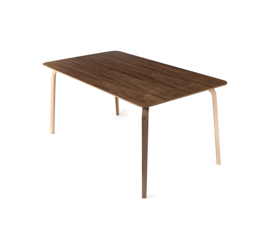 Mothership dining table walnut di PlyDesign | Tavoli caffetteria