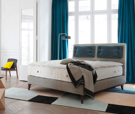 Sleeping Systems Collection Prestige | Headboard Sense by Treca Interiors Paris | Double beds