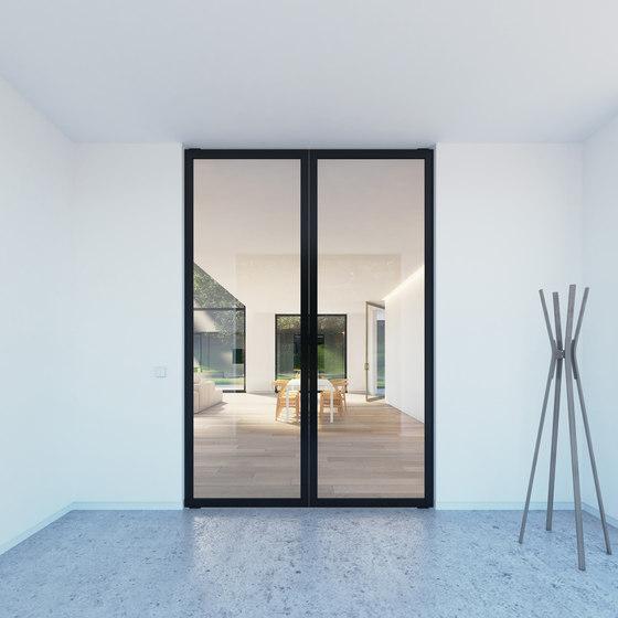 Portapivot 6530 | double door black anodized by PortaPivot | Internal doors