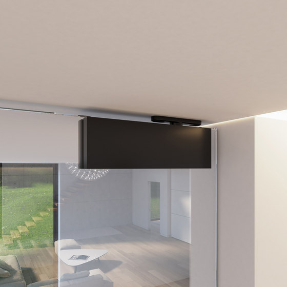 Portapivot Glass | black anodized de PortaPivot | Puertas de interior