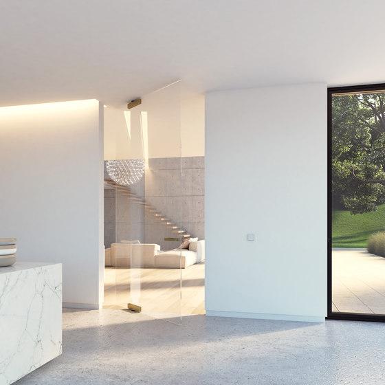 Portapivot Glass XL | bronze anodized di PortaPivot | Porte interni