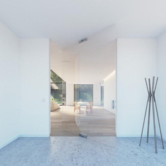 Portapivot Glass XL | silver anodized by PortaPivot | Internal doors