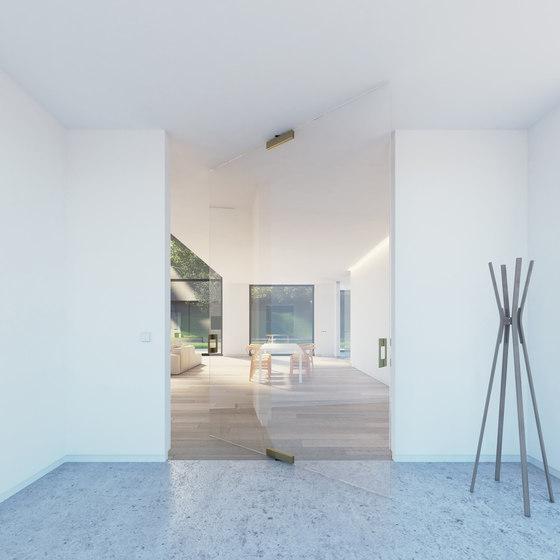 Portapivot Glass XL | bronze anodized by PortaPivot | Internal doors